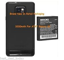 Seidio OEM Super Extended Battery For Samsung Galaxy S2 S 2 II AT&T I777 3200MAH