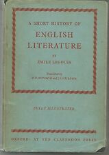 A SHORT HISTORY OF ENGLISH LITERATURE - EMILE LEGOUIS   english text