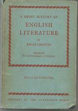 A SHORT HISTORY OF ENGLISH LITERATURE - EMILE LEGOUIS   english text