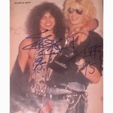 Guns N Roses Signed Photo Slash Autographed Picture + Duff Photo Proof