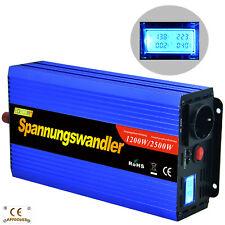 2500W 1200W 12V a 220V Inversor Convertidor Inverter Transformator LCD Camping