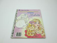 "Little Golden Book The Missing Wedding Dress Featuring Barbie 1986 ""E"" Edition"