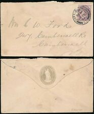 GB QV 1899 CAMBERWELL OVERSEERS ENVELOPE + CP PERFIN...EAST DULWICH