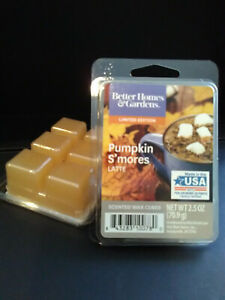 2 PACKS ScentSationals PUMPKIN S'MORES LATTE Scented Wax Cubes & FREE Shipping!