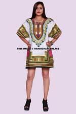 Women Party Dress African Dashiki Shirt Kaftan Boho Hippe Gypsy Festival Tops