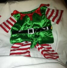 Build a Bear Green/Red/White Elf One Piece Jumper