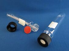 Qty 20 12ml Fisherbrand Reusable Glass Test Tubes With Screw Caps Amp Septa