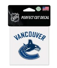 "Vancouver Canucks 4"" x 4"" Logo Truck Car Window Auto Die Cut Decal Color New NHL"