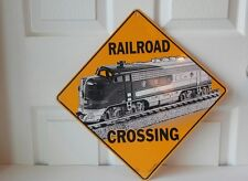 Crosswalks Railroad Crossing Aluminum Sign - With Picture of Train - Made in USA