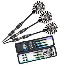 POPfessional Tungsten Steel Tip Darts Set With Dart Flights & Case 22g Gifts UK