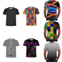 Male Hypnosis Funny 3D Printing Swirl T-Shirt Casual Short Sleeve Tee Men Summer