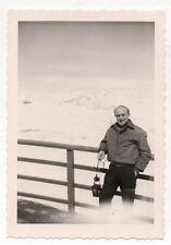 PHOTO - Photographe photographié - Portrait Autoportrait Vintage Snapshot 1960