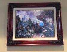 Cinderella Wishes Upon a Dream Thomas Kinkade 16x12 Canvas Disney Framed