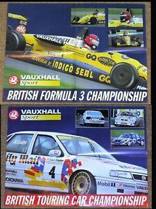 Original 1993 DOUBLE SIDED POSTER - BTCC Cavalier Allam & F3 Dalara 393 Gavin