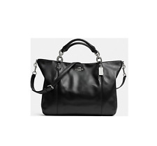 NWT Coach Colette Black Leather Fashion Satchel Shoulder Bag Handbags F32785