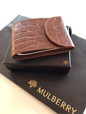 Stunning Condition Vintage Mulberry Cheque Book Wallet In Brown Congo Leather