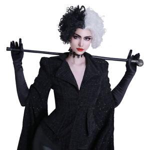 Cruella de Vil Cosplay Cruella Cosplay Kostüme Halloween Karneval Outfits