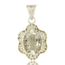 Designer 925 Silver Green Amethyst And Peridot Pendant Gemstone Jewelry