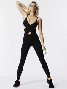 NWT Free People Movement Cosmic One Piece Workout Jumpsuit Black
