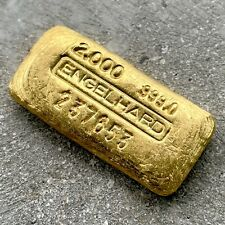 Engelhard 2 oz Gold Poured Bar .9990 with Serial Number + Pretty Pour lines
