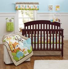 New Baby Boys 8 Pieces Cotton Nursery Bedding Crib Cot Sets