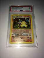 1999 POKEMON GAME #4 CHARIZARD HOLO PSA GRADED NEAR MINT - BASE SET 4/102