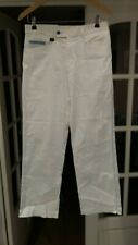 !! Stromberg Men Golf Trousers White with a Blue Trim Cotton Stretch Size 32R/30