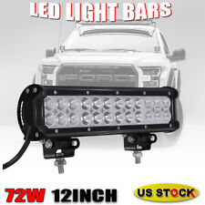 12Inch 72W LED Work Light Bar Combo Driving Lamp For 4 wheeler Polaris Sportsman
