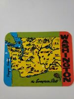 Vintage Washington The Evergreen State Sticker Decal Travel Luggage