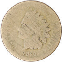 1860 1C Indian Head Cent Penny Raw Circulated Coin