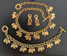 Parrure Agatha Paris Vintage : collier, bracelet, boucle d'oreille