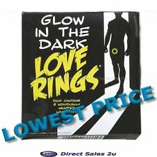 Penis Rings Glow in the Dark x 3 Male Erection Enhancer Impotence Sex Aid