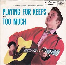 "Elvis Presley ""Too Much"" & ""Playing For Keeps"" RCA 47-6800 Record & Picture Slv"