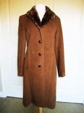 GORGEOUS BILL BLASS SIGNATURE Women's BABY LAMA BROWN COAT SIZE 10