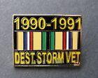 Внешний вид - Desert Storm Veteran 1990 - 1991 Combat Vet USA Lapel Hat Pin Badge 1.1 inches