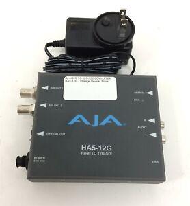 AJA HA5-12G HDMI 2.0 to 12G-SDI Converter w/ AC Adapter