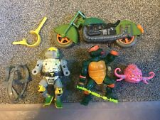 Tmnt 1989 Lot MetalHead, Krang, Turtlecycle, Michealangelo, Sewer Tube Parts