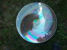 VINTAGE  MURANO ART GLASS ELEGANT CENTER BOWL LUSTER & RAINBOW COLORS HUGE