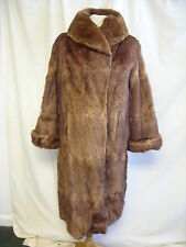 """Ladies Fur Coat Henry & Co. brown sable, bust 42"""", length 44"""", some wear 2535"""
