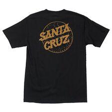 Santa Cruz Cracked Dot Skateboard T Shirt Black Large