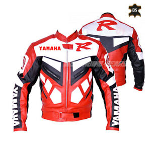 Red racing R1 leather jacket moto gp style leather jacket for track racing