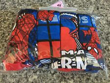 BNIP Boys Sz 4-6 Pack of 4 Spiderman Print 100% Cotton Classic Briefs Underpants
