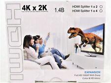 Movcle HDMI Splitter 1 in 4 out Full Ultra HD 1080P 4K/2K 1X4 Port Box Hub