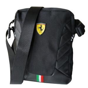 Scuderia Ferrari Small Crossover Borsello Tracolla Originale Nero 63192