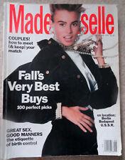 Vtg Mademoiselle 9/1990 Billy Idol Kyle MacLachlan Meghan Douglas Roberta Chirco