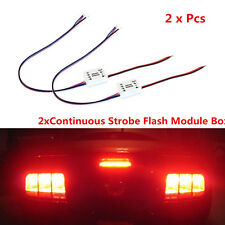 2pcs Strobe Falsh Module Box Continuous  Car 3rd Brake Tail Light Rear Fog Lamp