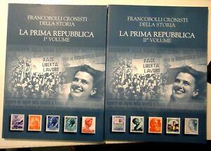 FRANCOBOLLI CRONISTI DELLA STORIA - LA PRIMA REPUBBLICA I & II VOLUME - COMPLETI
