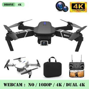 Drone Camera Quadcopter Hd 4k Wifi Foldable Mini Gps Combo Wide Angle Fly Dual.