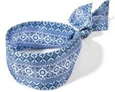 Bath & Body Works Coastal Head Wrap Band Lightweight Blue Pattern Print One Size