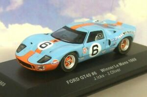IXO 1/43 GULF FORD GT40 #6 WINNER 1ST LE MANS 1969 JACKY ICKX/J.OLIVER LM1969